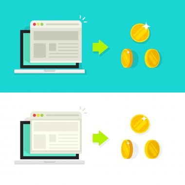 Website conversion vector illustration, rate income concept, optimization, advertising