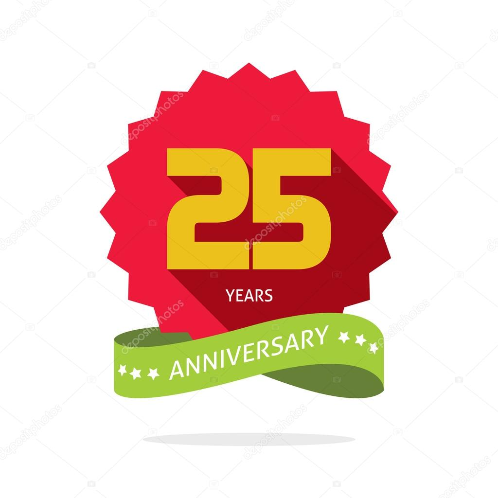 years 25 anniversary vector label logo badge stock vector rh depositphotos com 25 years logo png 25 years logo ideas