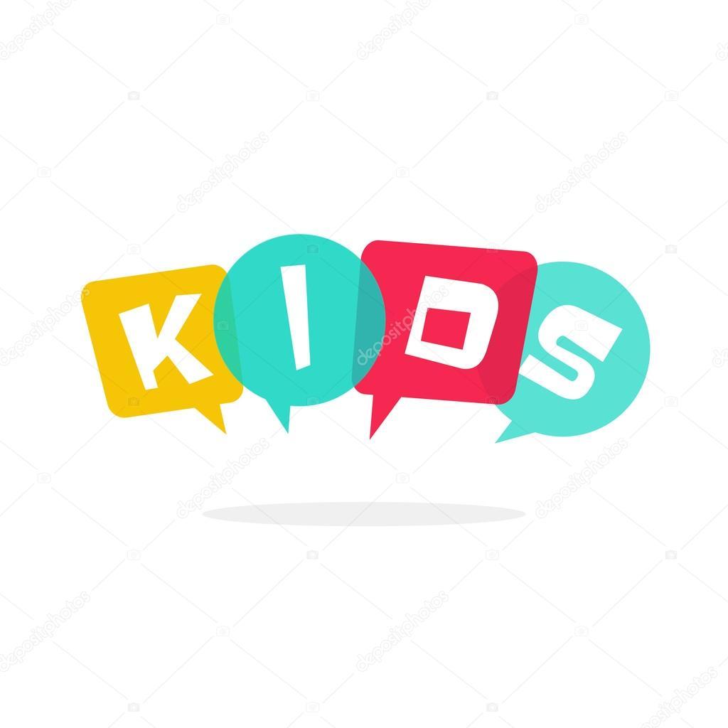 kids vector logo children education school logotype