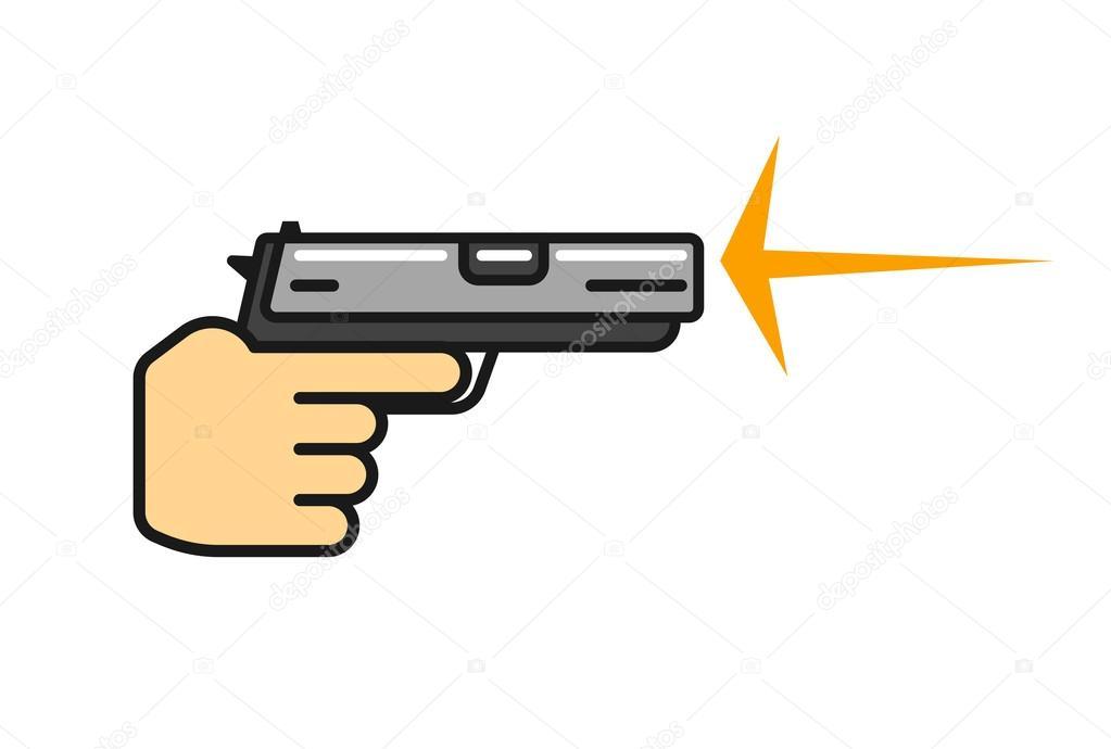 Icono De Vector De Disparos De Armas De