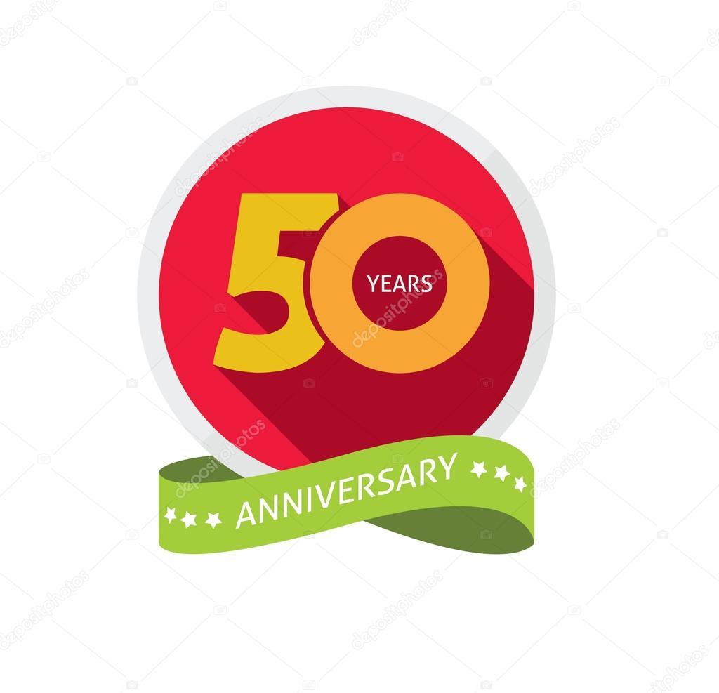 embleem 50 jaar Verjaardagslogo vijftigste jaar, 50 jaar verjaardag sticker label  embleem 50 jaar