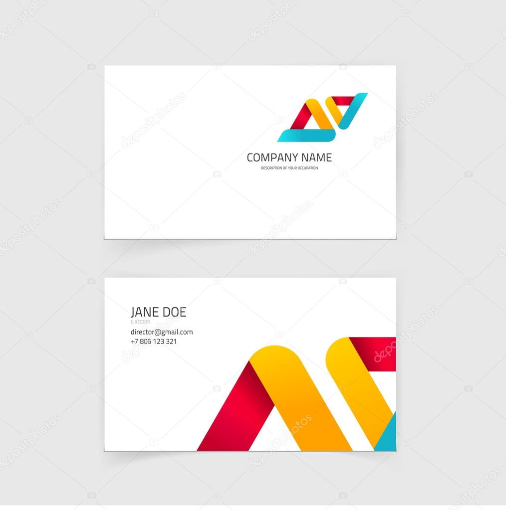 Business visiting card vector layout design with technology business card vector layout design visiting card with technology constructions background template vector by vladwel reheart Gallery