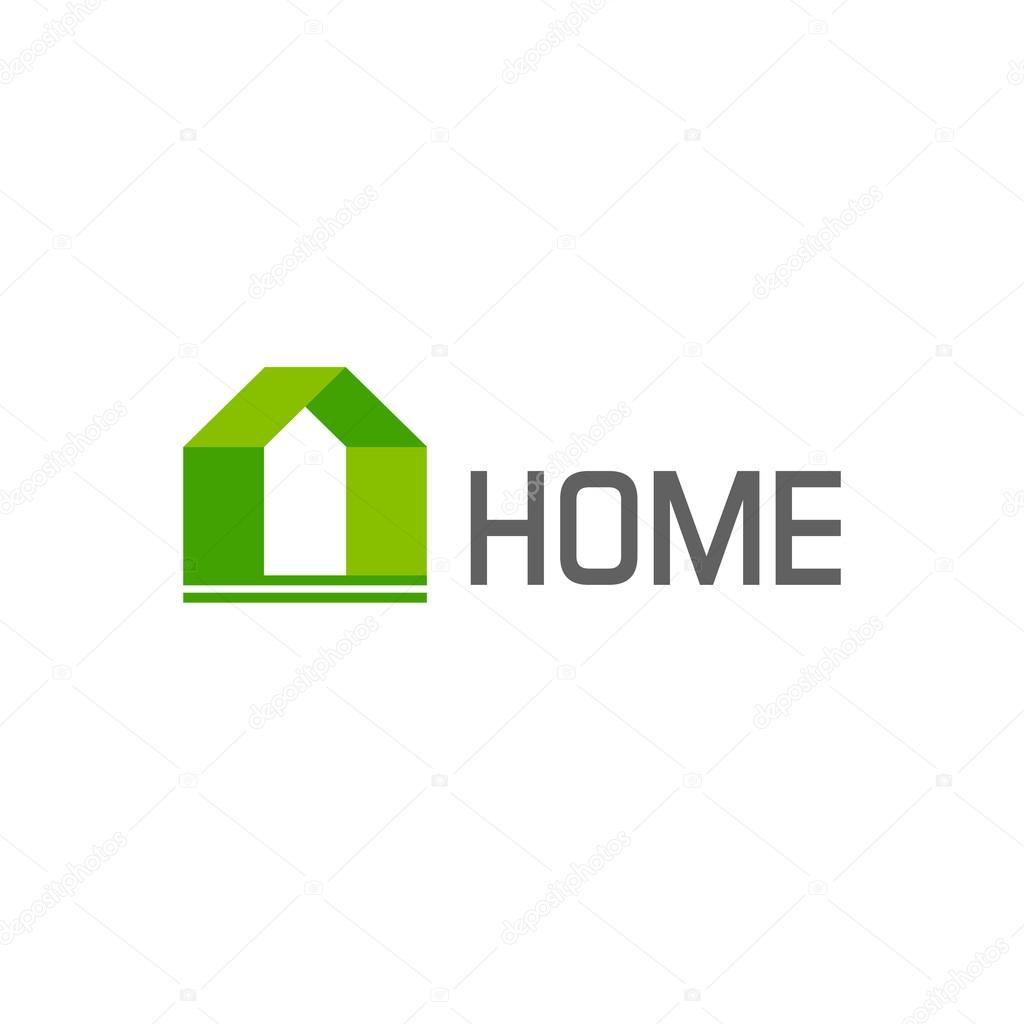 Green house logo vector design elements, concept of eco home — Stock ...