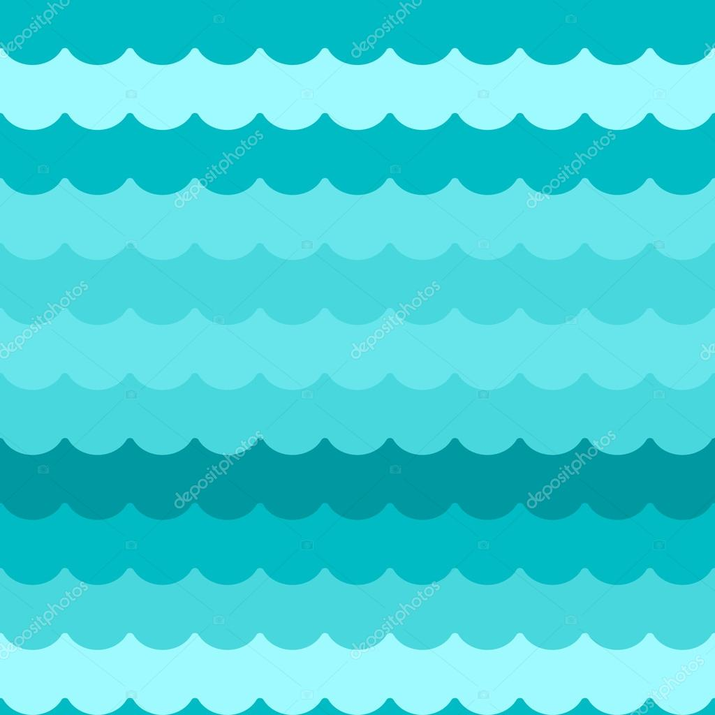 waves background seamless vector blue flat wave pattern