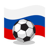 Fotografie Ball with russian flag.