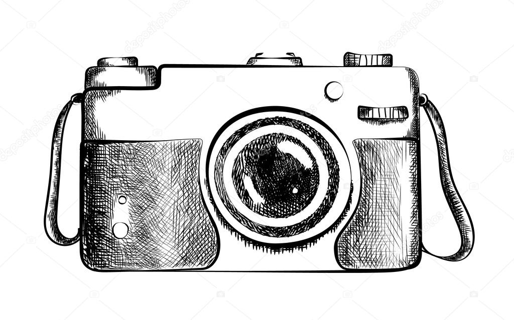 Drawn Retro Camera Stock Vector C Inspiring Vector Gmail Com