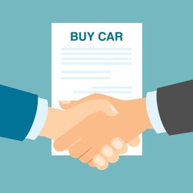 Buy car handshake.