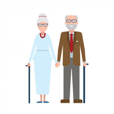 Cute old couple.