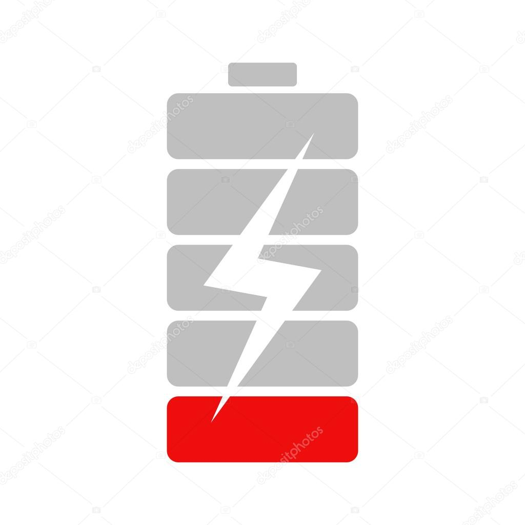 Low charge battery icon. — Stock Vector © inspiring.vector.gmail.com ...