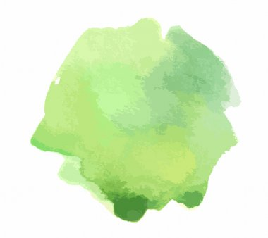 Watercolor green paint. Colorful paint illustration for decoration. clip art vector