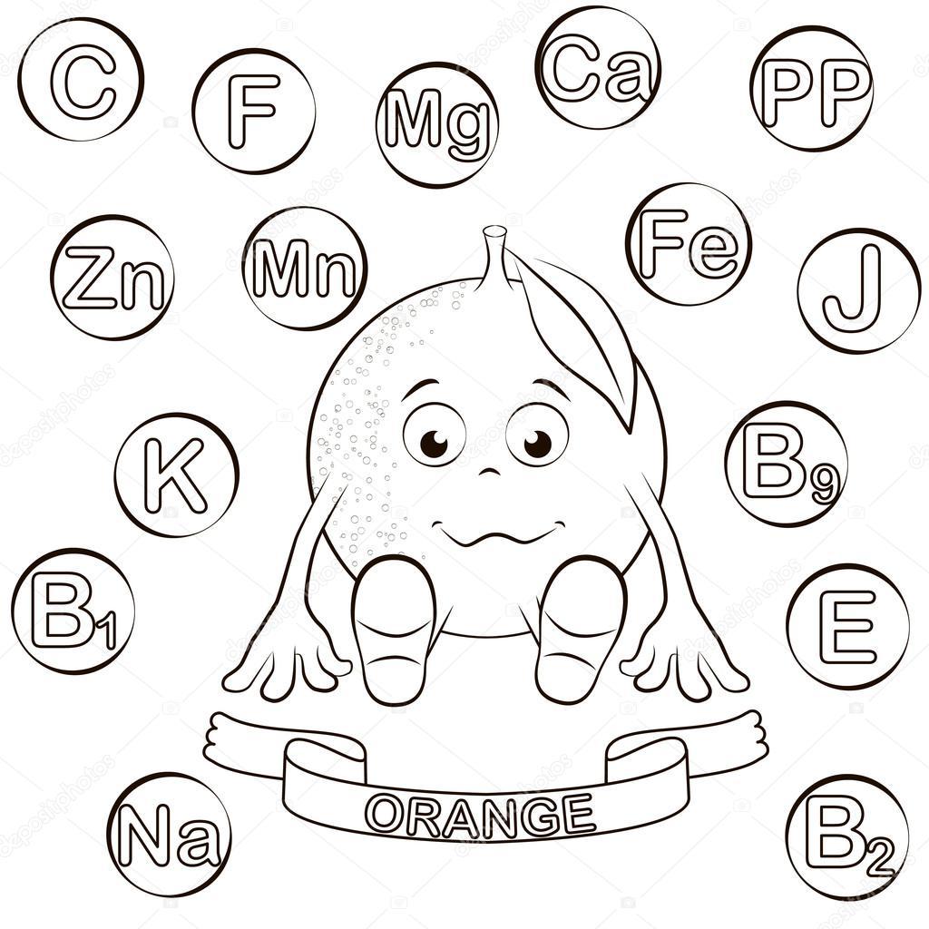 Dibujos Vitaminas Y Minerales Para Colorear Personaje De Dibujos