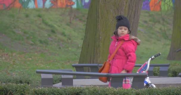 Girl Has Just Arrived to the Central City Park