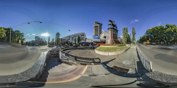 360Vr Video. Monument to Nikolay Shchors. Kiev