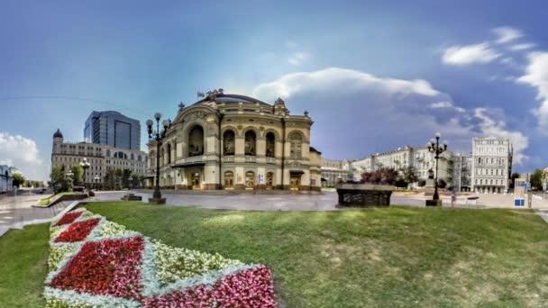 National Opera House in Kiev. Flowerbed