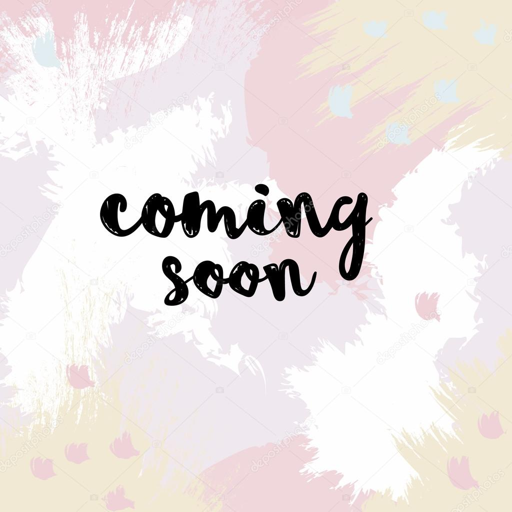 Banner Coming Soon On A Beautiful Gentle Background Vector Image By C Natdzho Gmail Com Vector Stock 109407108