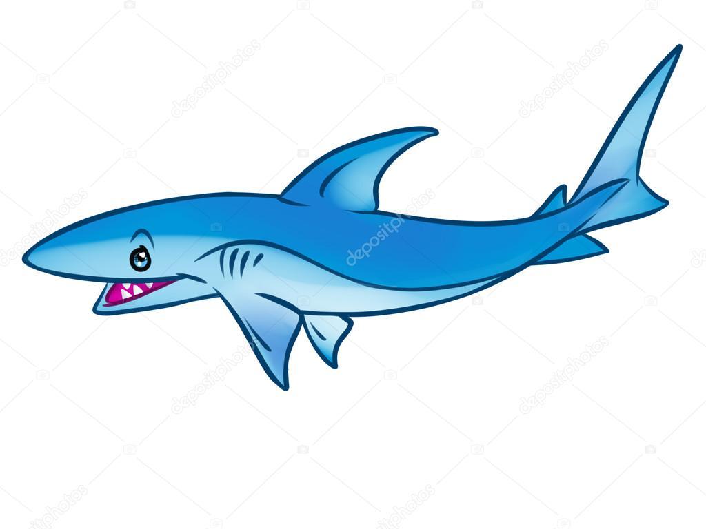 Dibujos De Animados Peces Depredadores Tiburón De