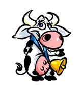 Kreslená parodie kráva