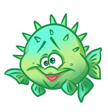 Fish hedgehog cartoon