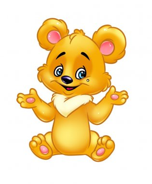 Yellow teddy-bear cartoon