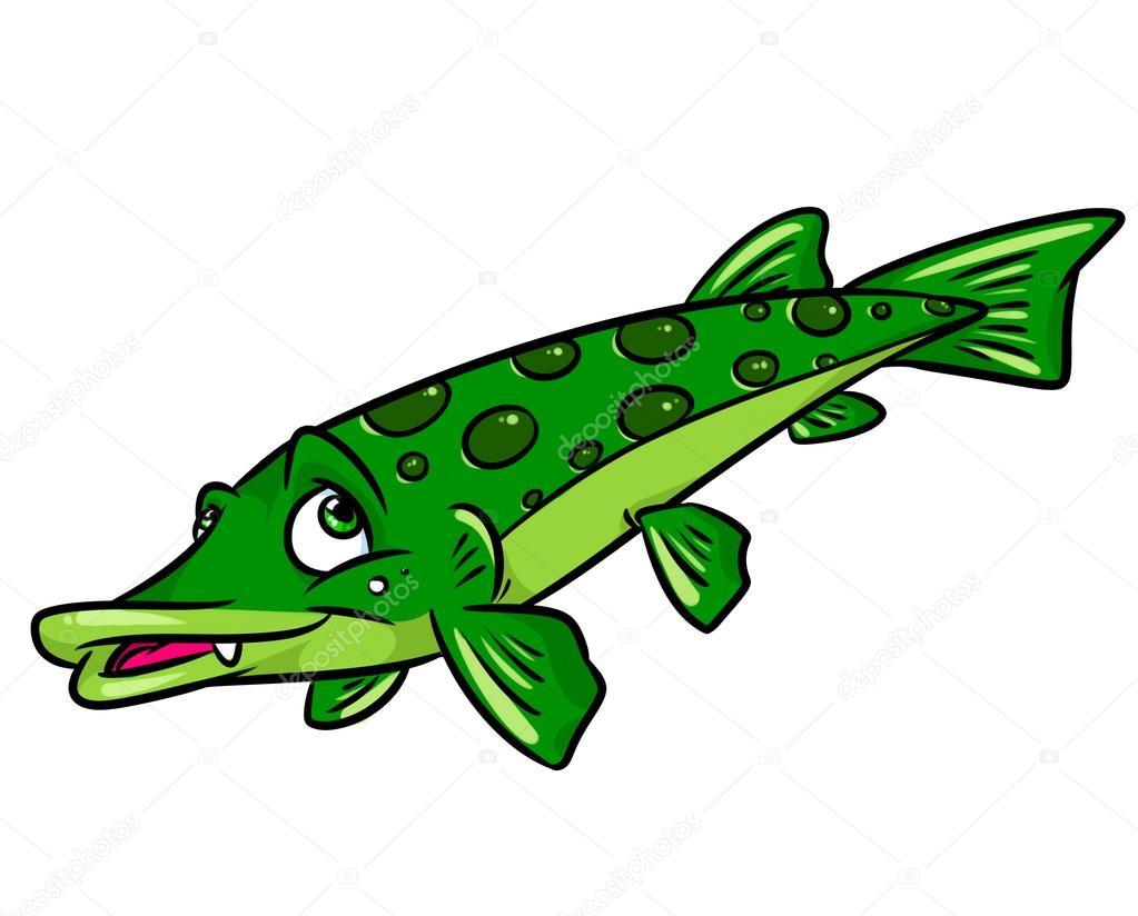 Fish pike cartoon — Stock Photo © Efengai #105554296