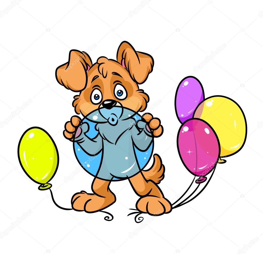Картинки про шарика собаку