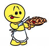 Smajlík vaří charakter berry koláč kreslený