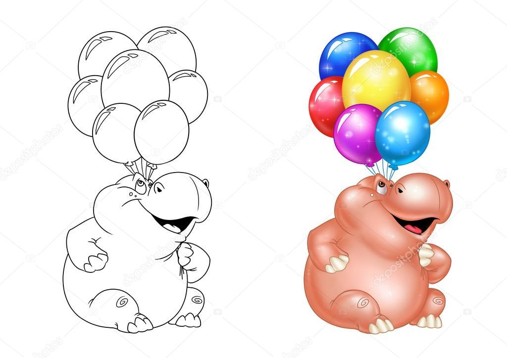 Nilpferd-Ballons-Urlaub — Stockfoto © Efengai #105872052