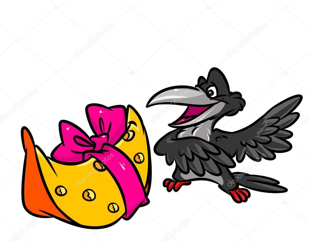 Caricature De Fable Corbeau Et Le Fromage Photographie Efengai
