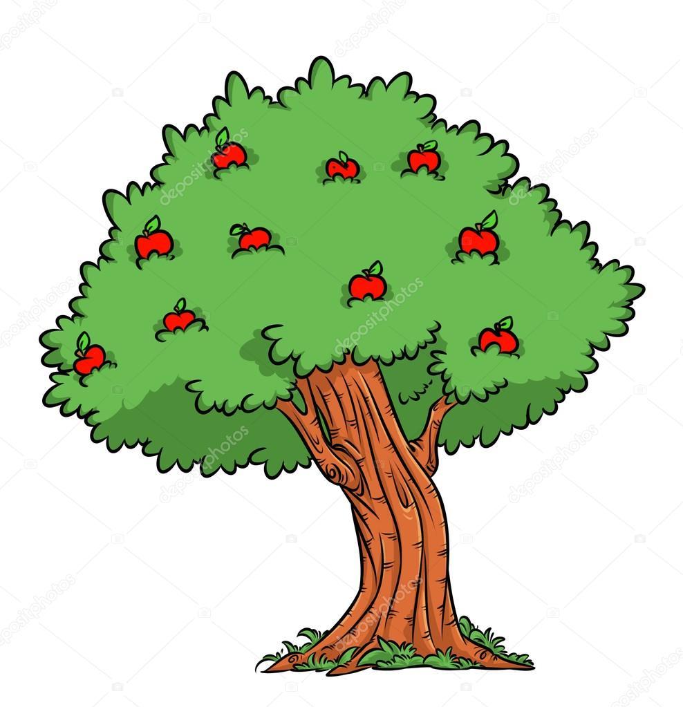 Desenho De Colheita Apple Apple árvore Stock Photo Efengai