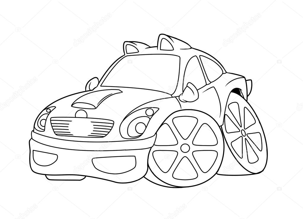 Bil m larbilder cartoon stockfotografi efengai 105872472 for Stock car coloring pages