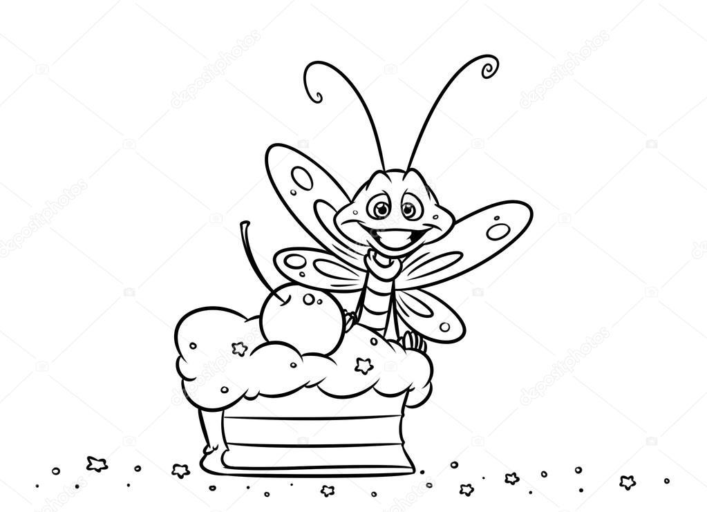 Böcek Kelebek Pasta Stok Foto Efengai 105872516
