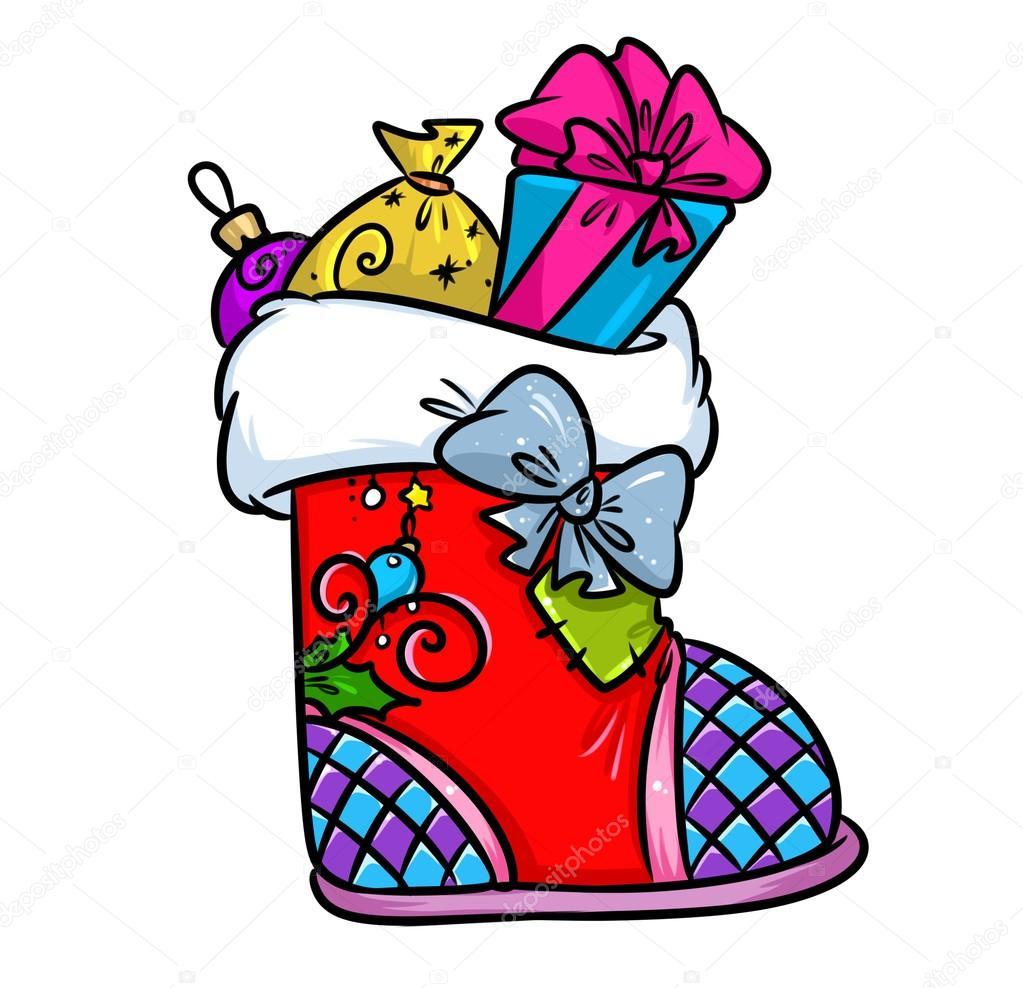 Dibujos Dibujo Botas De Navidad Dibujos Animados De Bota De