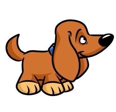 Toy dog dachshund cartoon