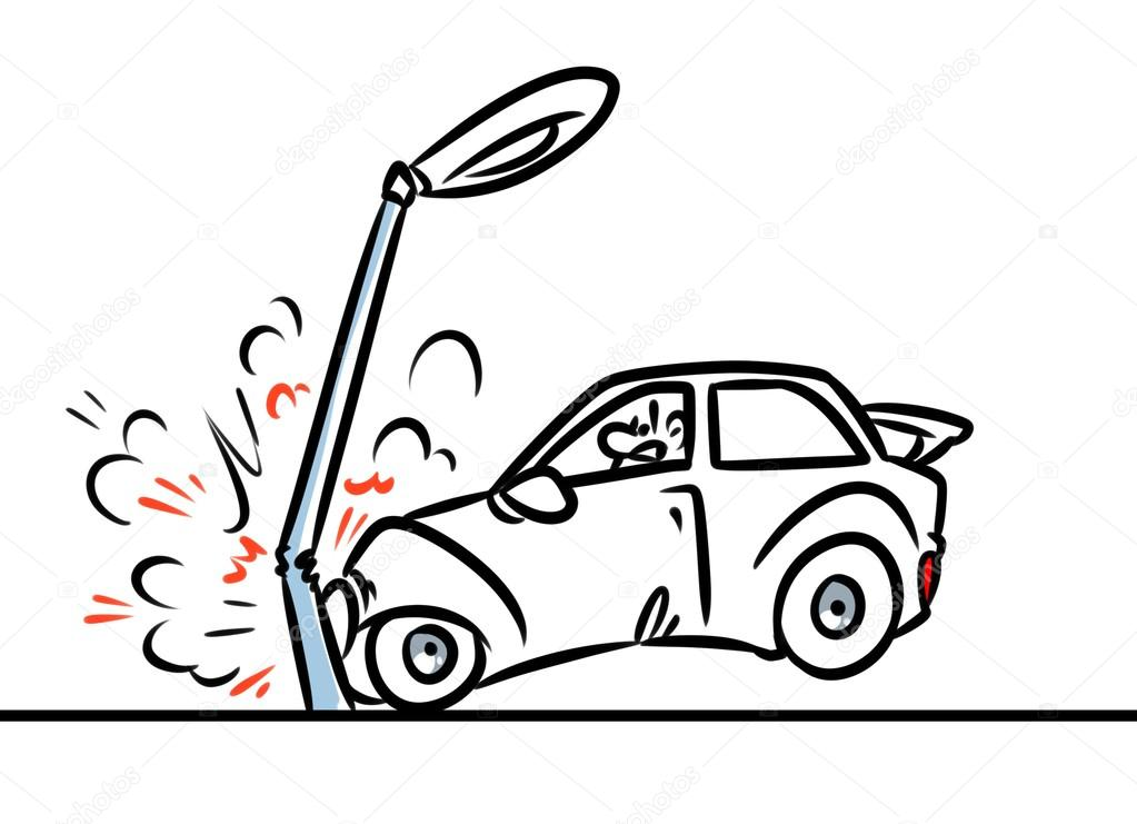 car accident cartoon — Stock Photo © Efengai #106254362