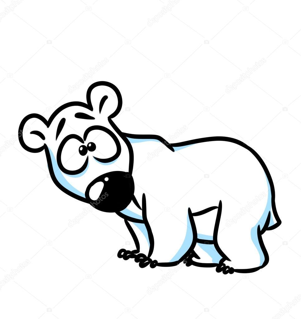 polar bear wonder cartoon  u2014 stock photo  u00a9 efengai  106255184