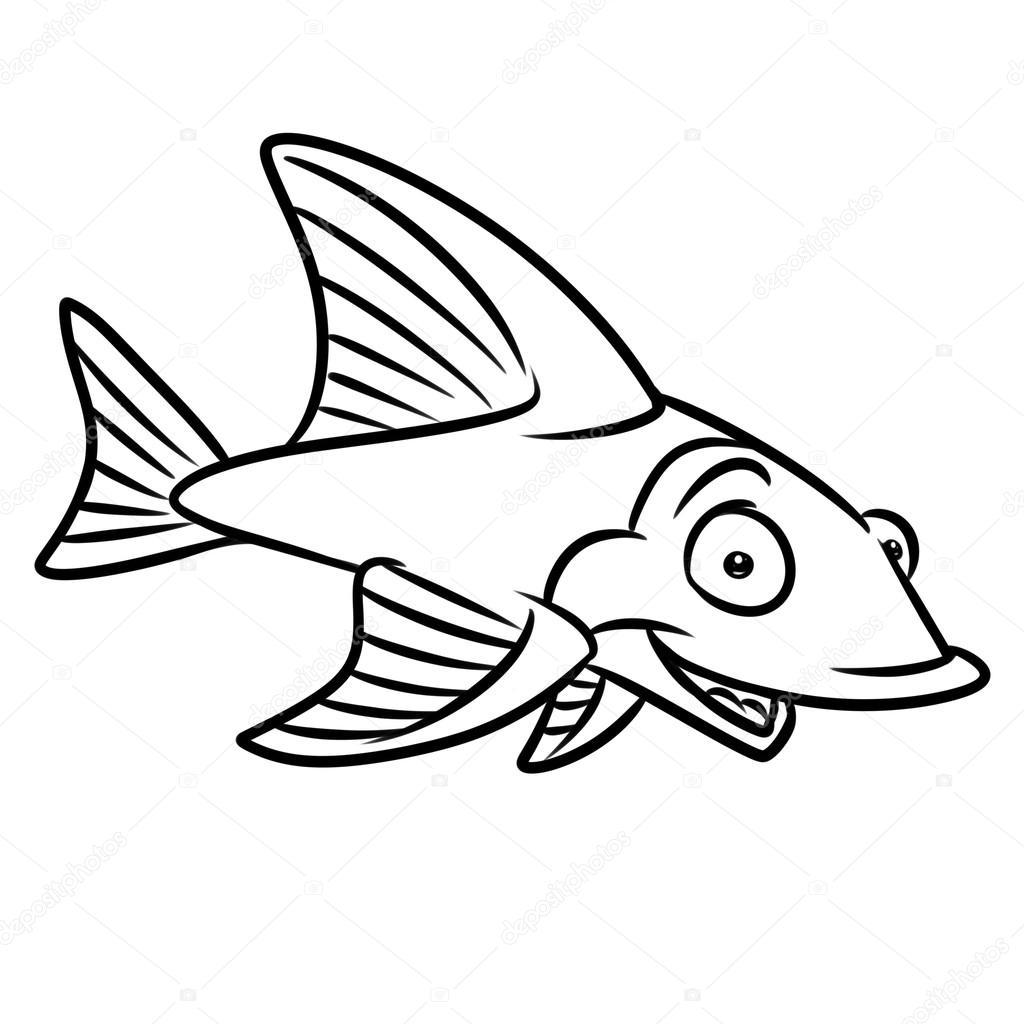 Malvorlagen Fische-Glück — Stockfoto © Efengai #106257044