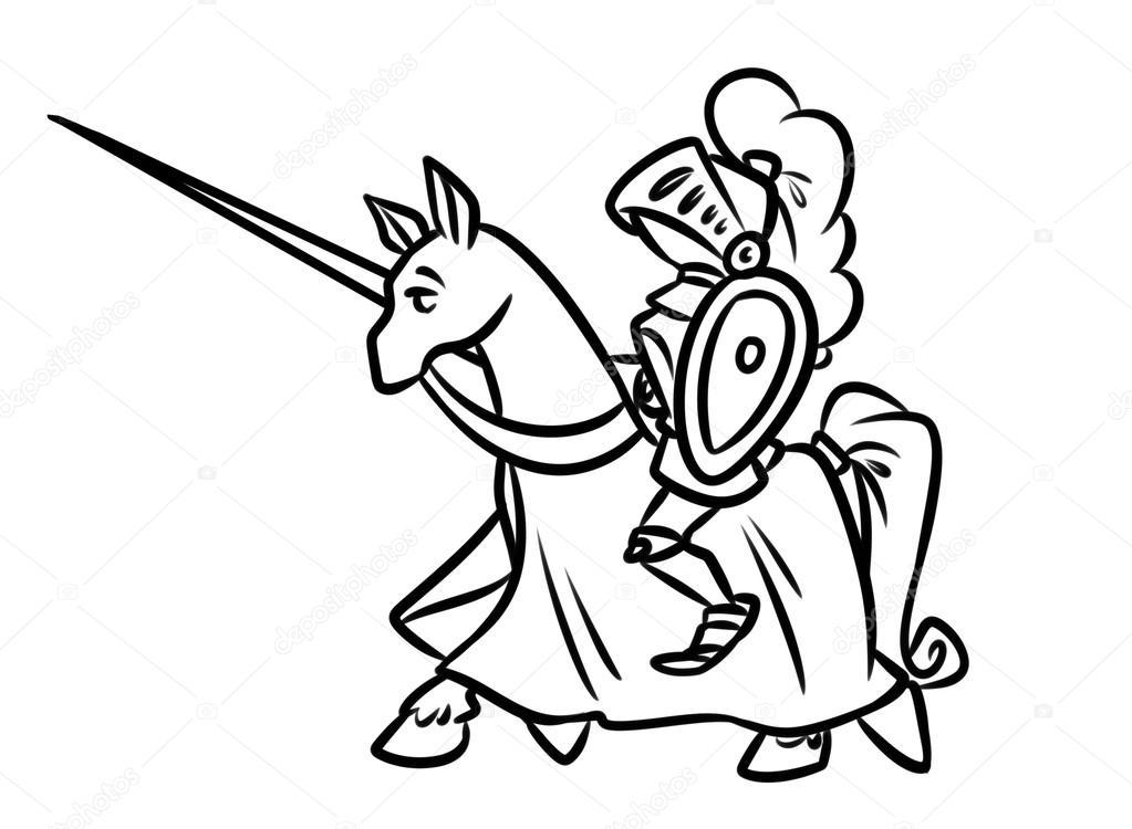 kleurplaat schild ridder