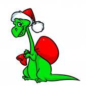 Dinosaurus Santa kreslený