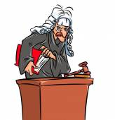 Judge  caricature cartoon