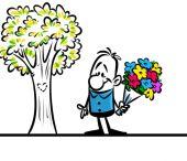 Charakter člověka lásku kytice květiny