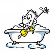 Carattere uomo fare il bagno