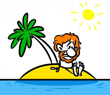 Character man desert island Robinson Crusoe