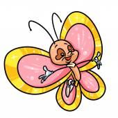 Fumetto divertente della farfalla