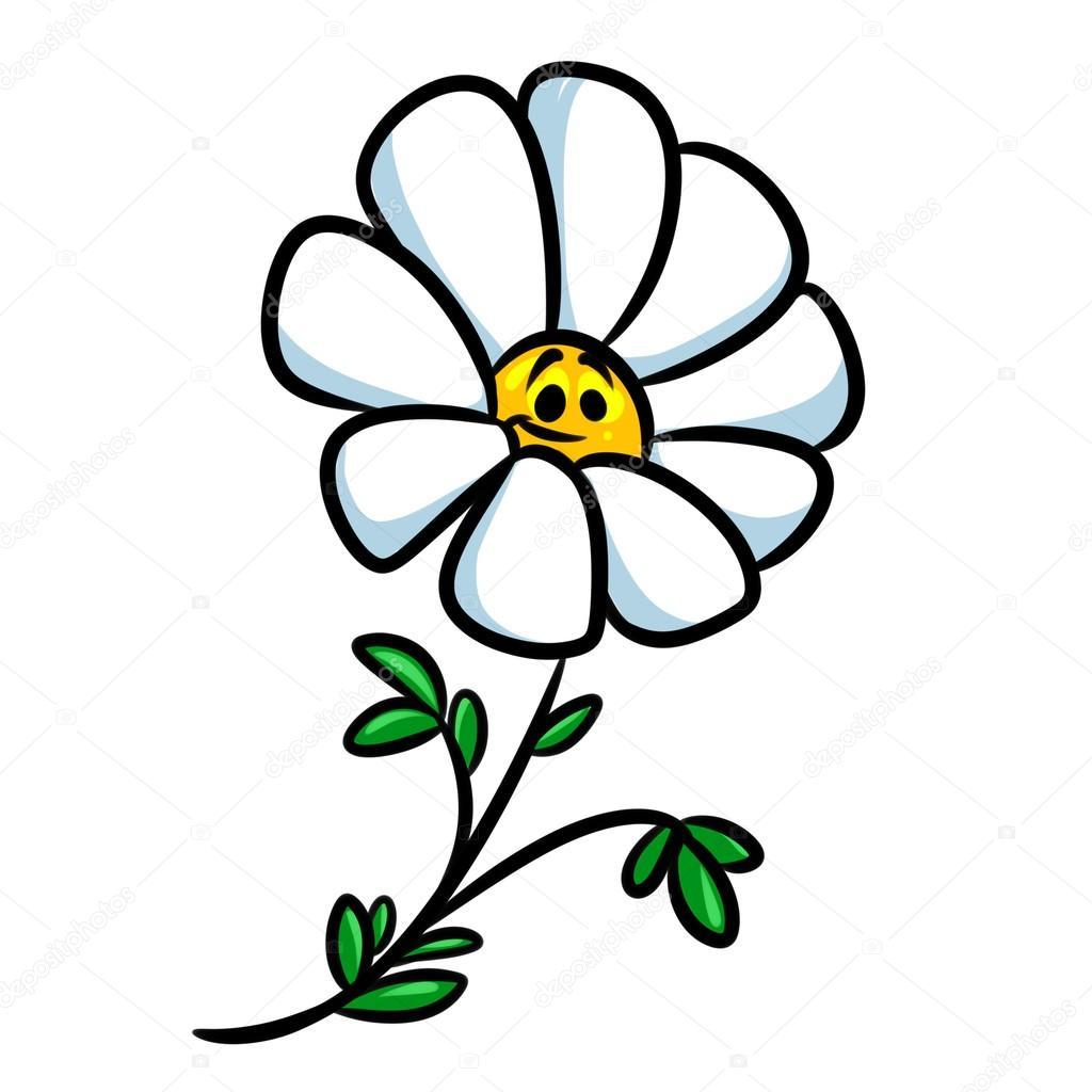 Flor Plan Ilustraci 243 N De Dibujos Animados De Flor De Margarita