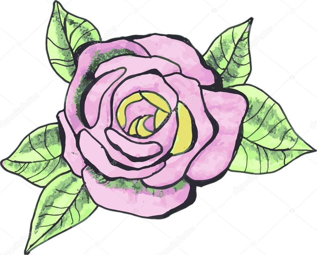 Tatouage Dessin Rose Image Vectorielle Antropova T Yandex Ru