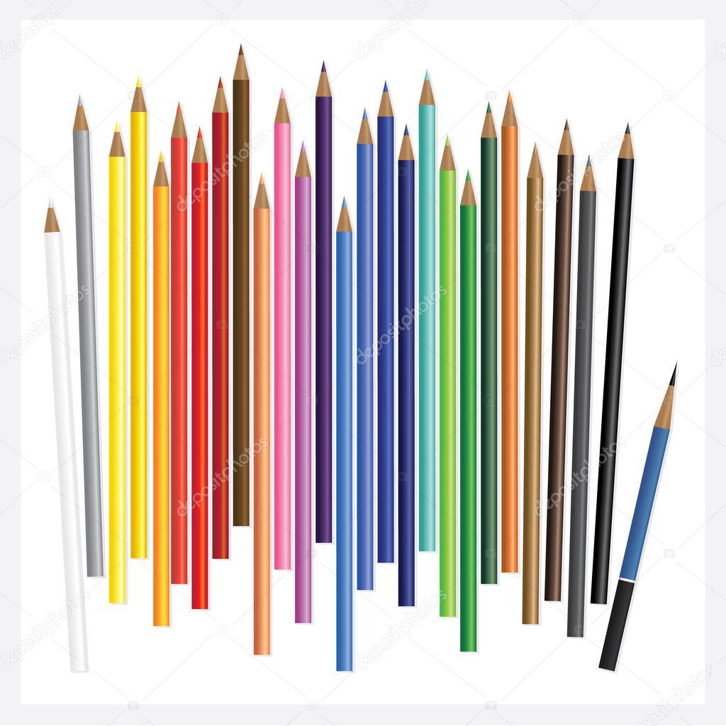 リアルな 3 D 描画と色鉛筆 ストックベクター Pongpongchinggmail