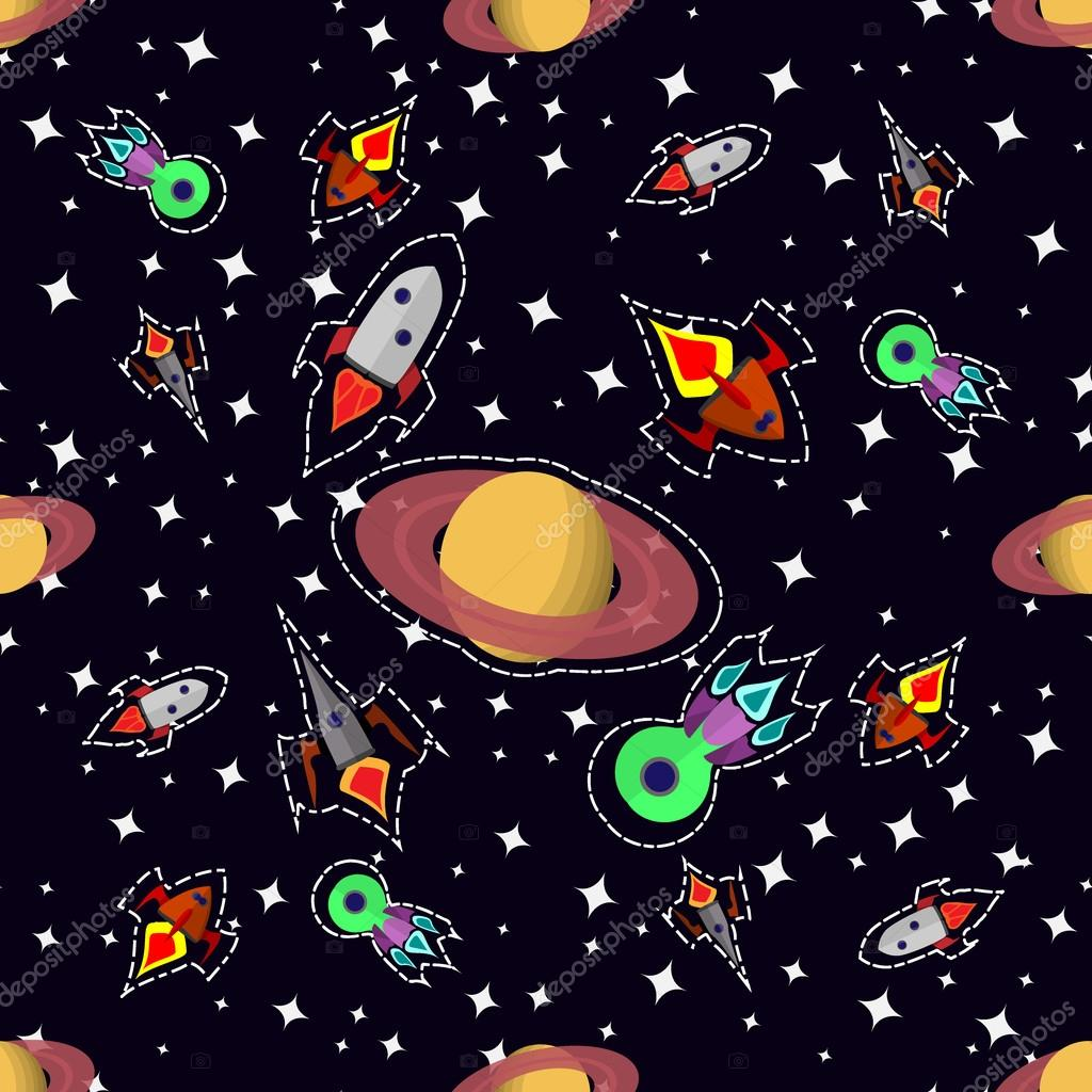 Fondo Del Dibujo Animado Espacial