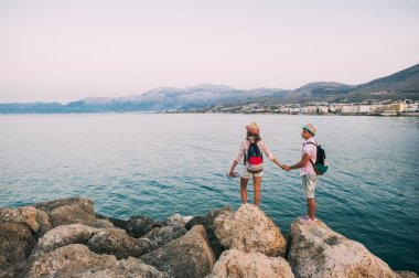 couple on vacation in Greece