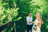 Fotografie Beautiful bride and groom