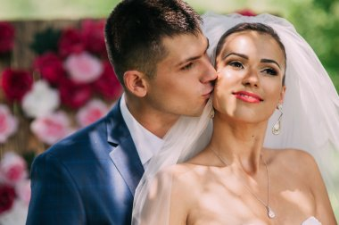 Sensual portrait of young couple